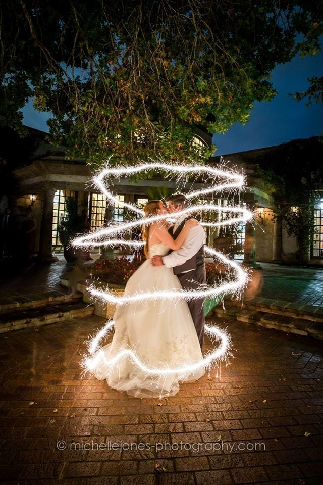 2 - bride and groom swirl
