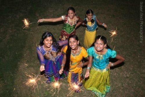 Girl Celebrating Diwali 2015