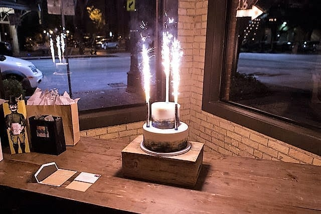 I LOVE How Our Champagne Bottle Sparklers Can Really Make A Cake Birthday POP