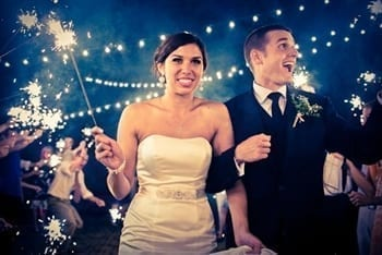 Excitement with sparklers