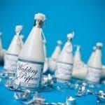 Wedding poppers blue background