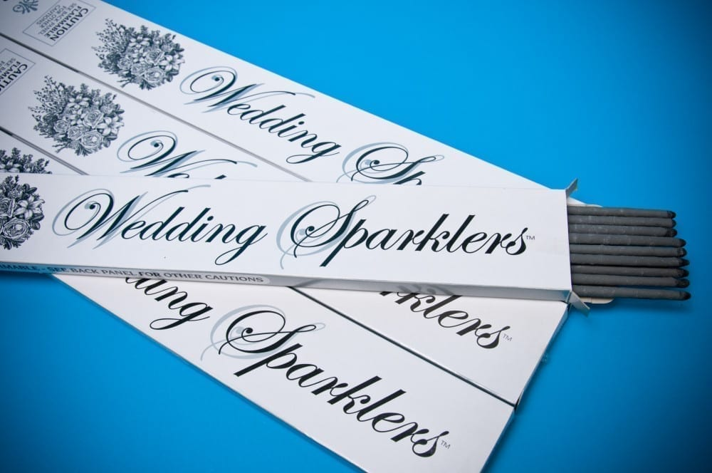 Pack of wedding sparklers