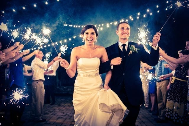 Enhance the excitement with sparklers
