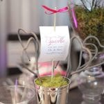 Sparkle wedding center piece photo by Azzura photography