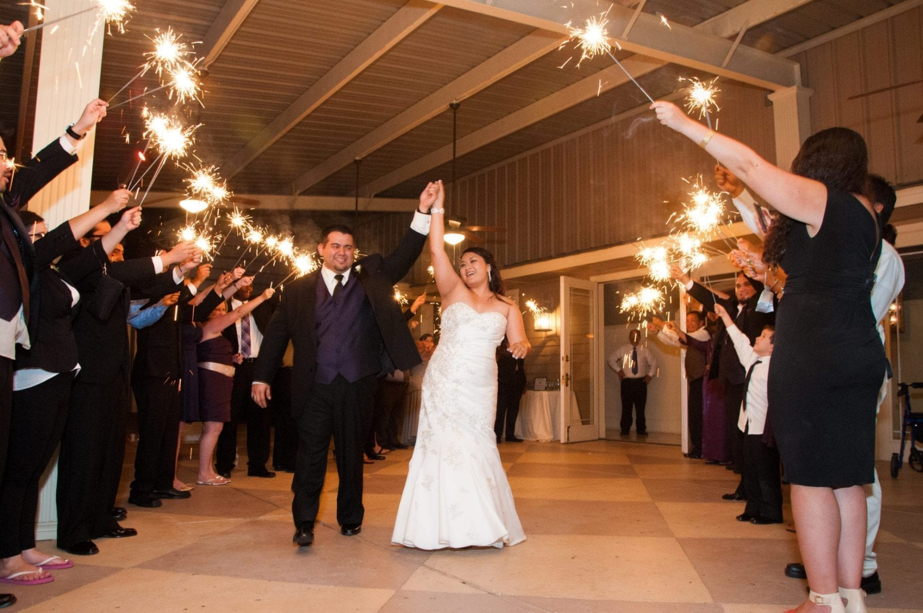 sparkler wedding exit how to