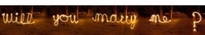 will you marry me spelled out in sparklers